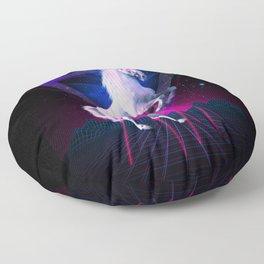 The last laser unicorn Floor Pillow