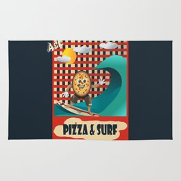Pizza and Surf Rug