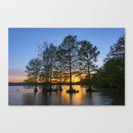 Sunset at Stumpy Lake Canvas Print