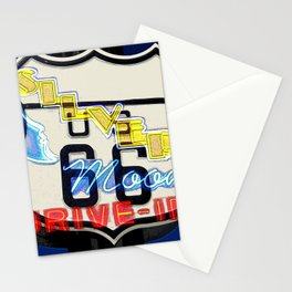 Silver moon drive in on route 66 Stationery Cards