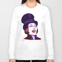 willy wonka Long Sleeve T-shirts featuring Wonka by Indigo East by ieIndigoEast