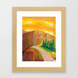 Mountain Road Framed Art Print