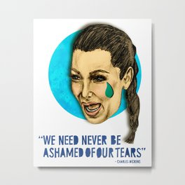 Ugly Cry: Kim Kardashian Edition.  Metal Print
