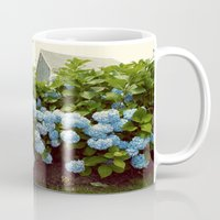 cape cod Mugs featuring Cape Cod Hydrangeas by Joyce Vincent