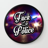 2pac Wall Clocks featuring F*ck the police by Street Vandals