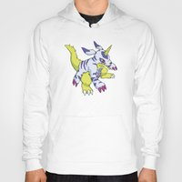 digimon Hoodies featuring Gabumon by Jelecy