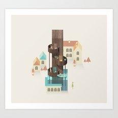 Resort Type - Letter I Art Print