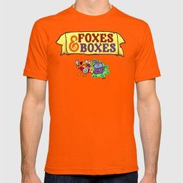 Foxes & Boxes Logo and Characters T-shirt