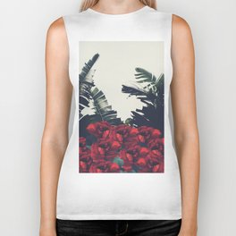 Red-Passion of Nature Biker Tank