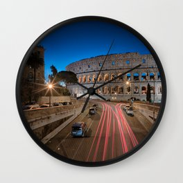 Colosseum at dawn Wall Clock