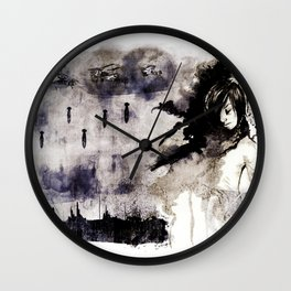 Miseria de los miserables (color version) Wall Clock