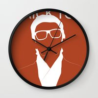 snatch Wall Clocks featuring Brick Top by TdL MD