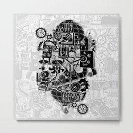 Hungry Gears (negative) Metal Print