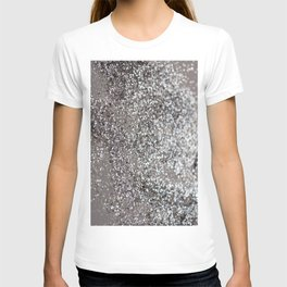 Sparkling SILVER Lady Glitter #1 #decor #art #society6 T-shirt