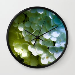 Bride White & Mermaid Scales Wall Clock
