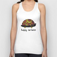 tortoise Tank Tops featuring Happy Tortoise by Farnell