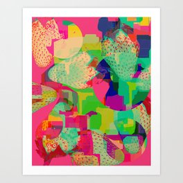Strawberry Kisses Art Print