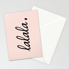 lalala pink punch Stationery Cards