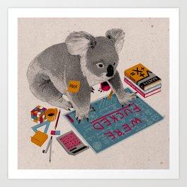 Prof Koala Art Print