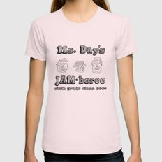 Jammin' JAM-boree Womens Fitted Tee Light Pink MEDIUM