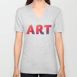 Art, minimalist typography, minimalist illustration, colorful, inspiring wall ar, inspirational word Unisex V-Neck