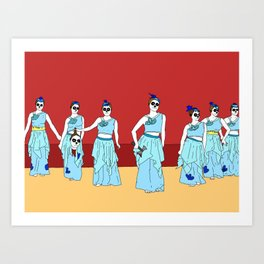 Naughty Nurses Art Print