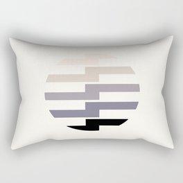 Minimalist Mid Century Circle Frame Grey Zig Zag Colorful Lightning Bolt Geometric Pattern Rectangular Pillow