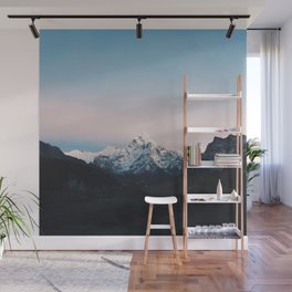 Blue & Pink Himalaya Mountains Wall Mural