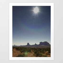 Deset_Monument Art Print