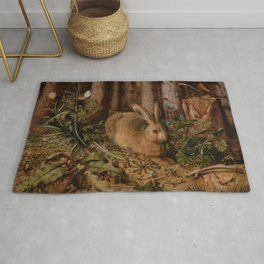 A Hare In The Forest Hans Hoffmann Rug