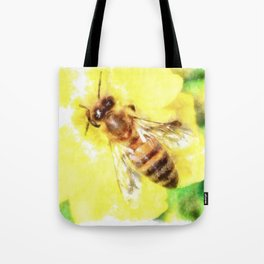 The Pollen Collector Honeybee Watercolor Tote Bag