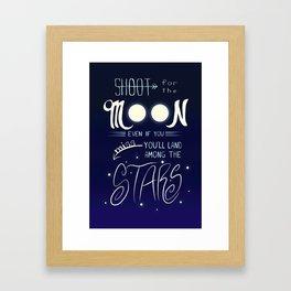 Shoot for the Moon Framed Art Print