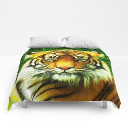 Tiger is Not Amused Comforters