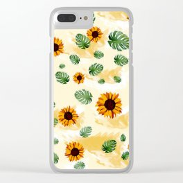 Yellow sunflower Clear iPhone Case