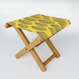 Yellow Navy Leaf Pattern Folding Stool