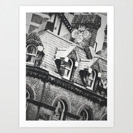 London Chimney Graffiti Art Print