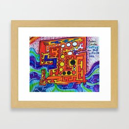 """Alan J Eichman Abstract 0030 """"cosmic crate floating on the infinite sea"""" Framed Art Print"""