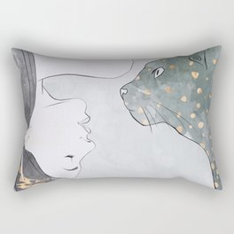 Cat Woman Rectangular Pillow