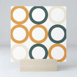 geometric minimal circles Mini Art Print