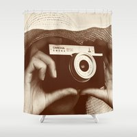 photographer Shower Curtains featuring Photographer by XfantasyArt
