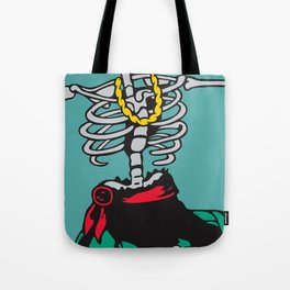 Drunk Skeleton Tote Bag