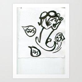 lovely dog Art Print