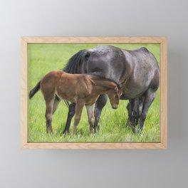 By Mother's Side Framed Mini Art Print