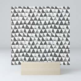 Gray Tribal Triangles Mini Art Print