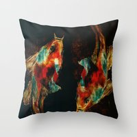 koi Throw Pillows featuring Koi by James Peart