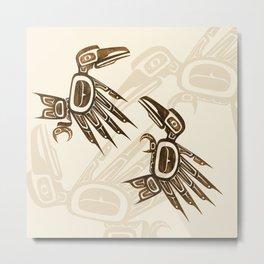 Dancing Ravens Metal Print