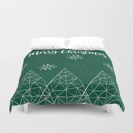 Merry Christmas Green Duvet Cover