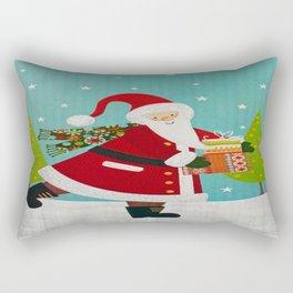 Santa and Presents Rectangular Pillow