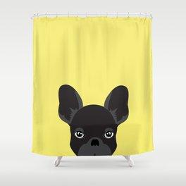 French bulldog banana yellow Shower Curtain