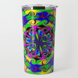 Sea of Acidic Psychedelic Anya Travel Mug